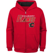 NHL Youth Calgary Flames Stated Red Full-Zip Hoodie