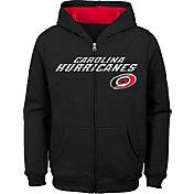 NHL Youth Carolina Hurricanes Stated Black Full-Zip Hoodie