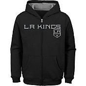NHL Youth Los Angeles Kings Stated Black Full-Zip Hoodie