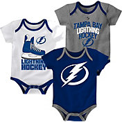NHL Infant Tampa Bay Lightning Power Play Onesie Royal/White/Grey 3-Pack