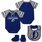 NHL Infant Tampa Bay Lightning Little D-Man Royal/Grey Onesie Set