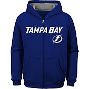 NHL Youth Tampa Bay Lightning Stated Royal Full-Zip Hoodie