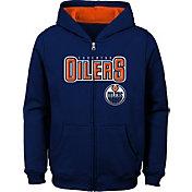 NHL Youth Edmonton Oilers Stated Royal Full-Zip Hoodie