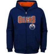 NHL Youth Edmonton Oilers Stated Royal Full-Zip Hoodie