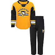 NHL Infant Pittsburgh Penguins Gold/Black Rink Rat Shirt and Pants Set