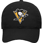 NHL Youth Pittsburgh Penguins Basic Structured Adjustable Black Hat