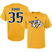 Reebok Youth Nashville Predators Pekka Rinne #35 Gold Player T-Shirt