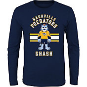 NHL Youth Nashville Predators Mascot Navy Long Sleeve Shirt