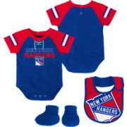 NHL Infant New York Rangers Little D-Man Royal/Red Onesie Set