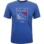 CCM Youth New York Rangers Retro Logo Navy T-Shirt
