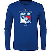 Reebok Youth New York Rangers Royal Long Sleeve Logo T-Shirt