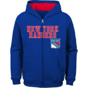 NHL Youth New York Rangers Stated Royal Full-Zip Hoodie