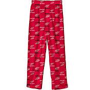 NHL Youth Detroit Red Wings Team Logo Red Sleep Pants