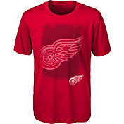 NHL Youth Detroit Red Wings Logo Matrix Red T-Shirt