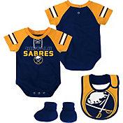 NHL Infant Buffalo Sabres Little D-Man Navy/Gold Onesie Set