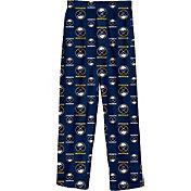 NHL Youth Buffalo Sabres Team Logo Navy Sleep Pants