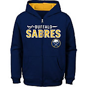 NHL Youth Buffalo Sabres Stated Navy Full-Zip Hoodie