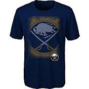 NHL Youth Buffalo Sabres Logo Matrix Navy T-Shirt