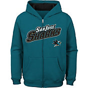 NHL Youth San Jose Sharks Stated Teal Full-Zip Hoodie