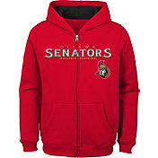 NHL Youth Ottawa Senators Stated Red Full-Zip Hoodie