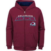 NHL Youth Colorado Avalanche Stated Burgundy Full-Zip Hoodie