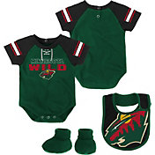 NHL Infant Minnesota Wild Little D-Man Green/Black Onesie Set