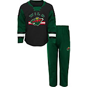 NHL Infant Minnesota Wild Black/Green Rink Rat Shirt and Pants Set