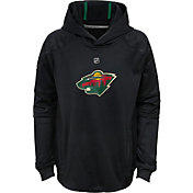 NHL Youth Minnesota Wild Mach Green Pullover Hoodie