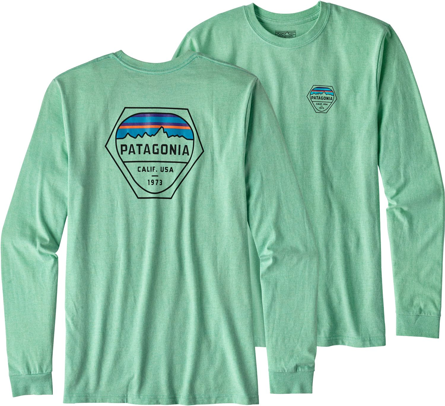 Patagonia Men's Fitz Roy Hex Long Sleeve T-Shirt | DICK'S Sporting ...
