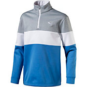 PUMA Boys' PWRWARM Jr. Quarter-Zip Golf Pullover