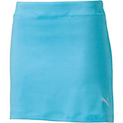 PUMA Girls' Solid Knit Golf Skort