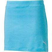 PUMA Girls' Solid Knit Golf Skort
