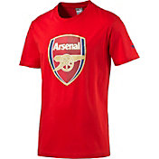 PUMA Men's Arsenal Crest Red T-Shirt