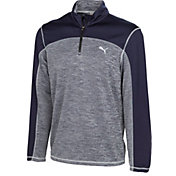 PUMA Men's Heather Colorblock Golf 1/4-Zip