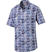 PUMA Men's Aloha Woven Golf Shirt
