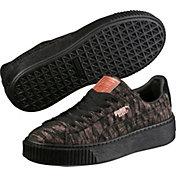 PUMA Women's Basket Platform Velvet Rope Shoes