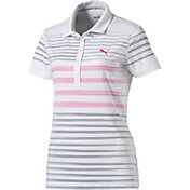 PUMA Women's Dot Stripe Golf Polo