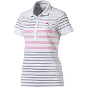 PUMA Women's Dot Stripe Golf Polo