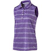 PUMA Women's Pounce Stripe Sleeveless Golf Polo