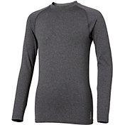 Reebok Boys' Cold Weather Compression Heather Crewneck Long Sleeve Shirt