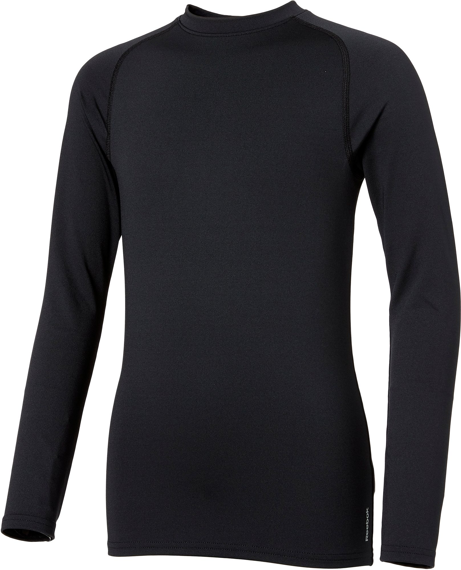 Reebok Boys' Cold Weather Compression Crewneck Long Sleeve Shirt ...