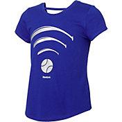 Reebok Girls' Cotton Softball Wi-Fi Strap Back T-Shirt
