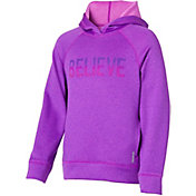 Reebok Girls' Performance Fleece Believe Graphic Hoodie