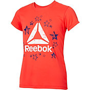 Reebok Girls' Crewneck Star Delta Graphic T-Shirt