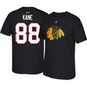 Reebok Men's Chicago Blackhawks Patrick Kane #88 Black Player T-Shirt