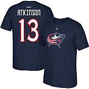 Reebok Men's Columbus Blue Jackets Cam Atkinson #13 Navy Player T-Shirt