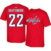 Reebok Men's Washington Capitals Kevin Shattenkirk #22 Replica Royal Player T-Shirt