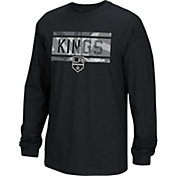 Reebok Men's Los Angeles Kings Frozen Stripe Black Long Sleeve T-Shirt