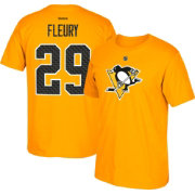 Reebok Men's Pittsburgh Penguins Marc-Andre Fleury #29 Gold Player T-Shirt