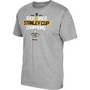 Reebok Men's 2017 NHL Stanley Cup Champions Pittsburgh Penguins Back-to-Back Grey T-Shirt